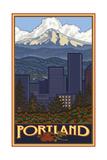 Portland Oregon Skyline Pal Posters 042 Reproduction d'art par Paul A Lanquist