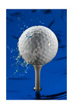 Blue Golf Ball Splash
