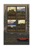 Glacier National Park Historic Lodges Collage