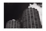 Marina City Morning B W