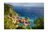 Ligurian Coast View At Vernazza  Italy