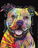 Beware of Pit Bulls Reproduction d'art par Dean Russo