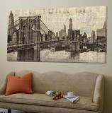 Vintage Brooklyn Bridge Toile Murale Géante par Michael Mullan