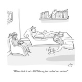 """Whoa  check it out—Bill Murray just crashed our  cartoon!"" - New Yorker Cartoon"