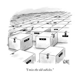 """I miss the old cubicles"" - New Yorker Cartoon"