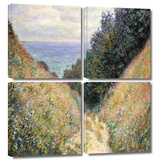 Footpath 4 piece gallery-wrapped canvas