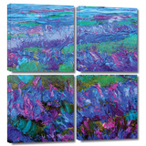 Charlits Floral 4 piece gallery-wrapped canvas