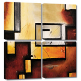 Abstract Modern 4 piece gallery-wrapped canvas