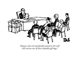 """Anyone who isn't specifically named in the will still receives one of the…"" - New Yorker Cartoon"