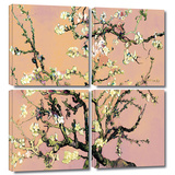 Interpretation in Eggshell Almond Blossom 4 piece gallery-wrapped canvas