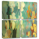 Shadow Florals 4 piece gallery-wrapped canvas