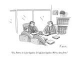 """Yes  Peters  it is just legalese It's all just legalese We're a law fir - New Yorker Cartoon"