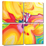 Secret Life of Lily 4 piece gallery-wrapped canvas
