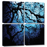 Japanese Ice Tree 4 piece gallery-wrapped canvas
