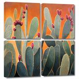 Cactus Orange 4 piece gallery-wrapped canvas