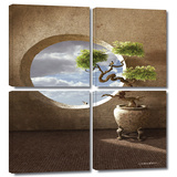 Haiku 4 piece gallery-wrapped canvas