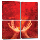 Chakra Fire 4 piece gallery-wrapped canvas