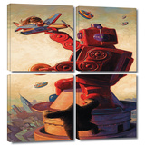 Robokong 4 piece gallery-wrapped canvas