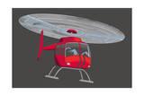 Hélicoptère Reproduction d'art