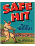 Safe Hit Brand Texas Vegetables