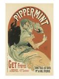 Pippermint Reproduction d'art par Jules Chéret