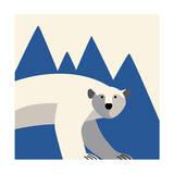 polar bear mountain Reproduction d'art