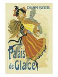 Palais De Glace, Champs-Elysees Reproduction d'art par Jules Chéret