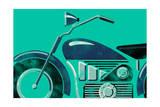 Moto de course Reproduction d'art