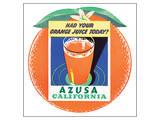 Azusa, Callifornia Reproduction d'art