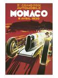 2eme Grand Prix Automobile Monaco Reproduction d'art