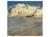 Monte Rosa at Sunset Reproduction d'art par Eugen Bracht