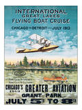 International Great Lakes Flying Boat Cruise  Chicago to Detroit  c1913