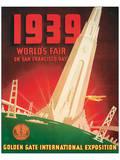 1939 Worlds Fair on San Francisco Bay Reproduction d'art