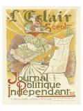 L'Eclair, Journal Politique Independent Reproduction d'art par H. Thomas
