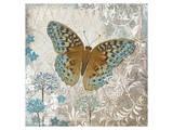 Blue Linen Butterfly