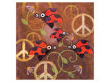 Peace Sign Ladybugs VI