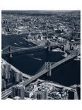 Manhattan and Brooklyn Bridge  New York