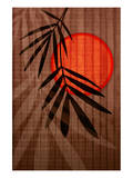 Bamboo and Red Sun I