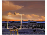 Easel in Nevada Sunset