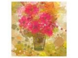 Abstract Colorful Flowers in Vase