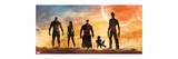 Guardians of the Galaxy - Star-Lord, Rocket Raccoon, Drax, Gamora, Groot Reproduction d'art
