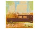 Brown Retro Car II