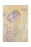 A Painting of Two Different Species of Jellyfish