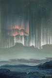 Drape-Like Shapes are Formed by Aurora Australis Near Antarctica