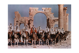 Natives Lines Up their Camels to Ride before the Gateway at Palmyra