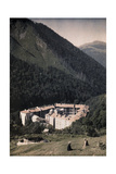 Forested Mountains Loom Above the Rila Monastery