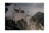 A View of the Grand White Castle of Schloss Neushwanstein