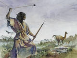 Ice Age Hunter Uses a Bola and a Wooden Spear to Hunt Llama-Like Prey