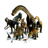 A Composite of Dinosaurs That Lived in the Northern Hemisphere