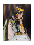 An Ouled Nail Tribal Dancer Bejeweled in Gold Coins and Bangles